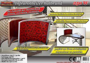 mauk infrarot standheizer halbrund 250 w rosen ihp. Black Bedroom Furniture Sets. Home Design Ideas