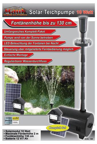 Mauk solar springbrunnen mit beleuchtung und fernbedienung