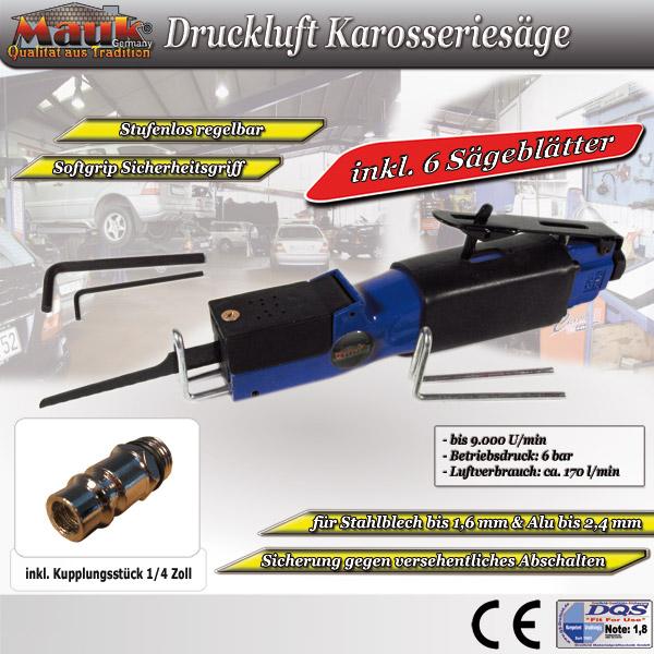 "Karosseriesäge Druckluftsäge Säge Druckluft 1//4/"" Blechschneider Blechsäge NEU A+"