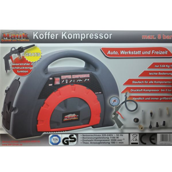 MAUK Koffer Kompressor max.8 bar